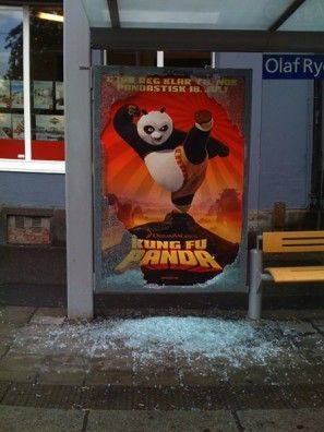 Street marketing mupi Kung fu panda Dreamworks