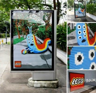 Street marketing mupi Lego