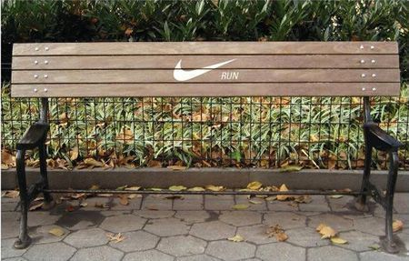 Street Marketing mupi Nike run