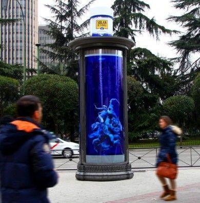 Street marketing mupi Solán de cabras
