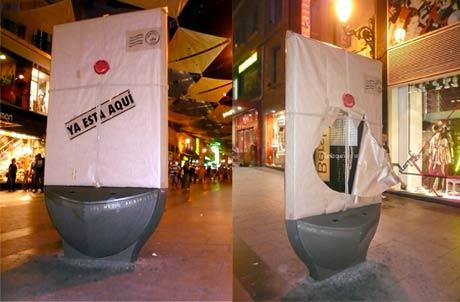 Street marketing mupi Vanity Fair