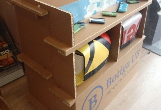 Mueble expositor Impresión directa sobre color Kraft