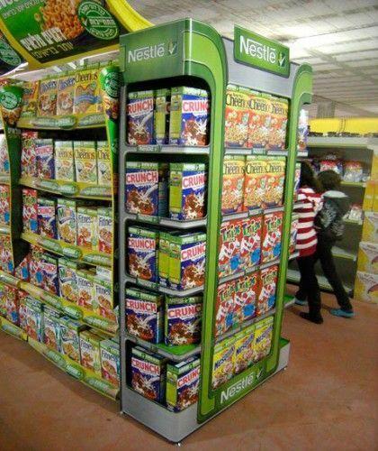 Cabeceras de góndola Expositor Plv Retail Stands