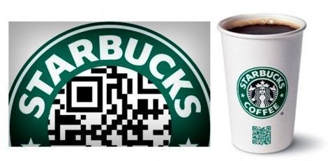 Starbucks Código QR Impresión Publicidad