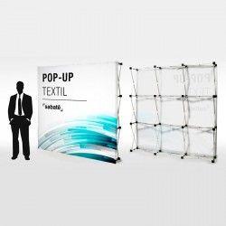 POP UP textil 3x3 - 226x226x29,5cm desde 391€ Transporte Incluido