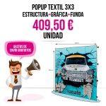 Comprar Photocall Textil 3x3 Barato