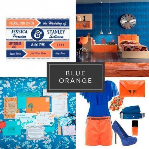 Azul y naranja Diseño interiories Visual merchandising