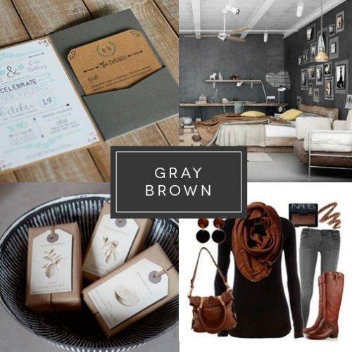 Gris y marrón Interiorismo Branding