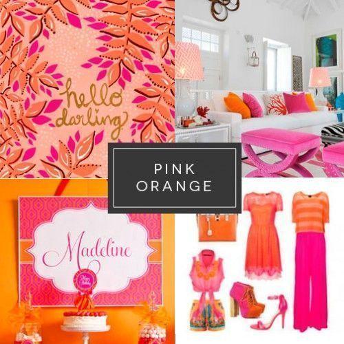 Rosa y naranja Branding Tendencia