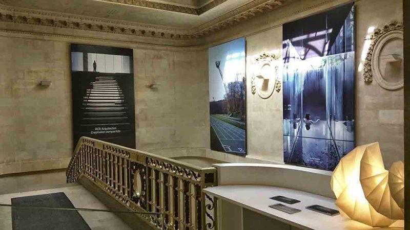 Exposiciones Instalación gráfica Displays Duratrans