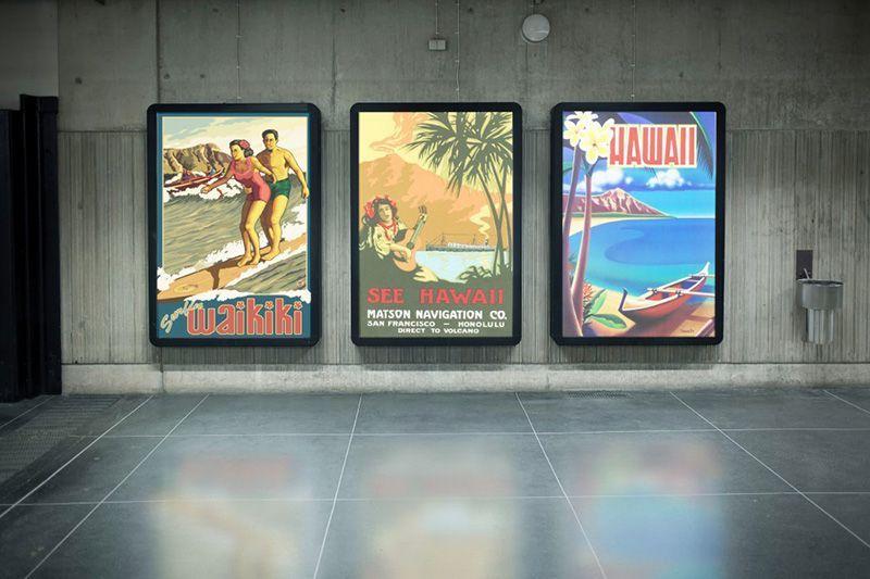 Gráfica retroiluminada Plv digital Displays
