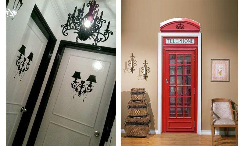 Vinilos adhesivos puertas materiales de construcci n - Cristales decorativos para puertas de interior ...