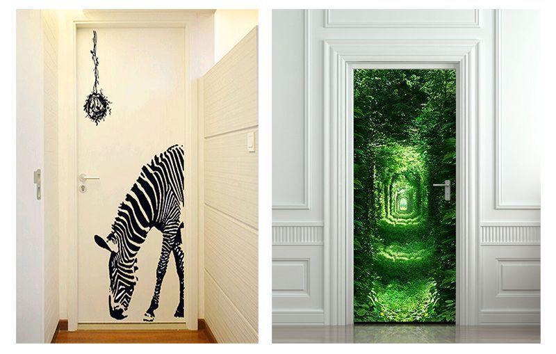 Vinilos para puertas interiorismo impresi n vinilos for Decoracion de paredes con adhesivos