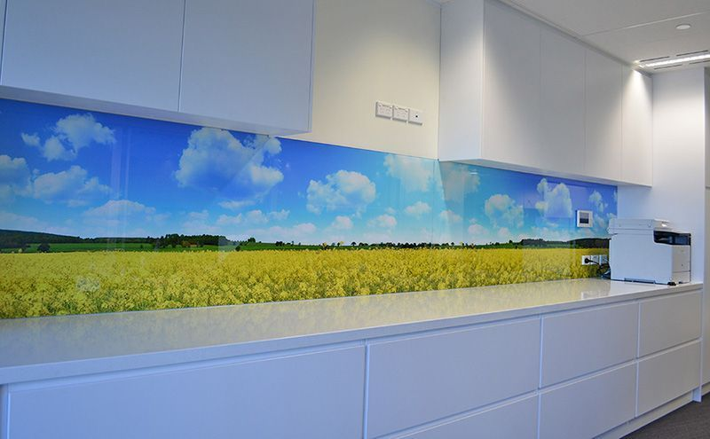 Textil impreso Vinilo Branding Diseño interiores