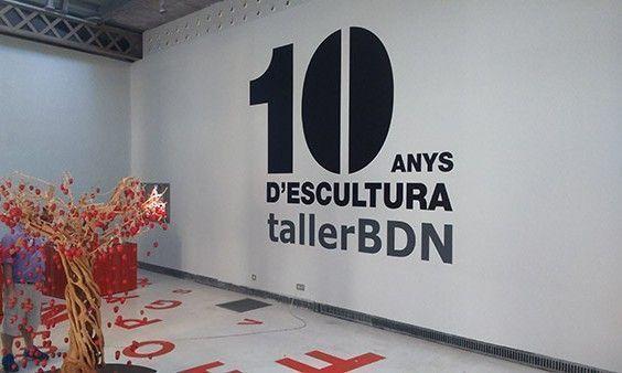 """Producción gráfica exposición """"10 anys d'escultura"""""""