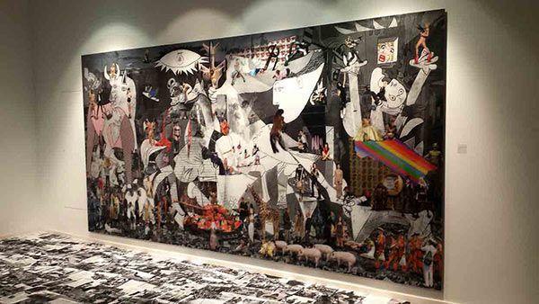 Obra de arte gigantográfica sobre metacrilato