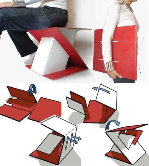 Impresión digital mobiliario de cartón Interiorismo