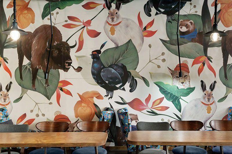 Impresión digital textil Interiorismo Wallpapers