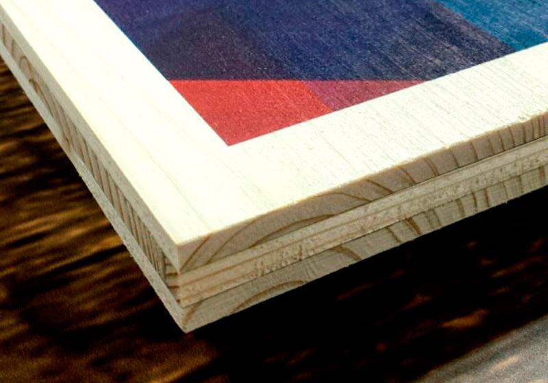 Impresión directaMadera impresa Green print