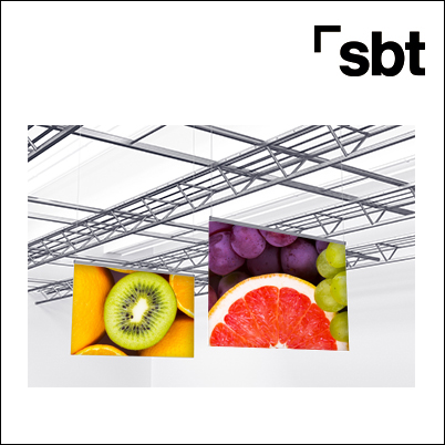 Aéreos techo Carteles colgantes PLV textil impreso