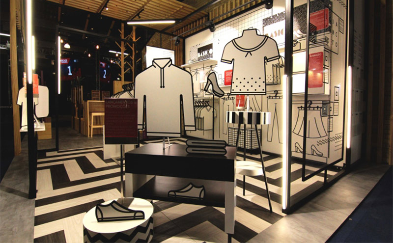 Cartón impreso Retail Pop up store
