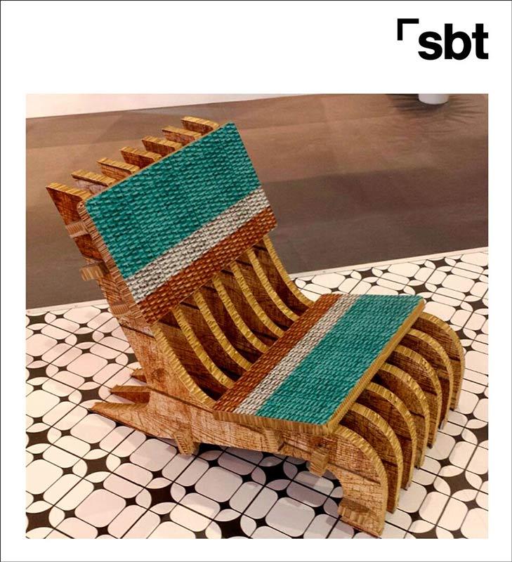 Mobiliario de cartón Impresión digital Textil impreso