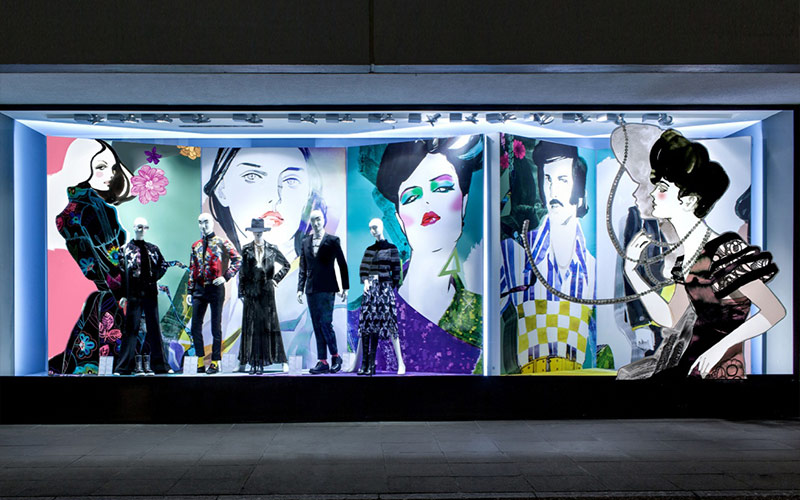 Visual merchandising Impresión digital gran formato