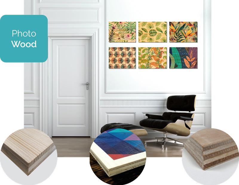 Fotocuadros Impresión sobre madera Decoración interiorismo