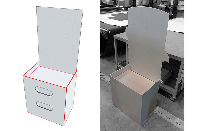 Impresión tintas UV Cartón impreso PLV