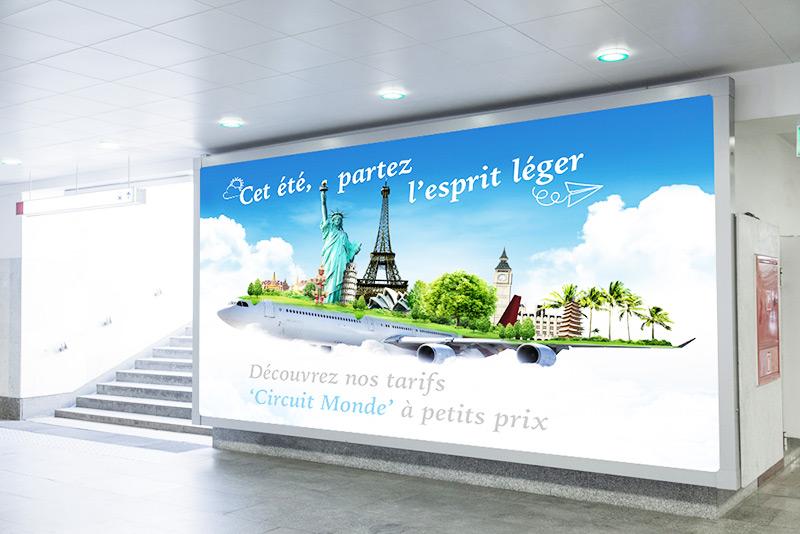 Soft signage Impresión digital textil publicitaria Rollups