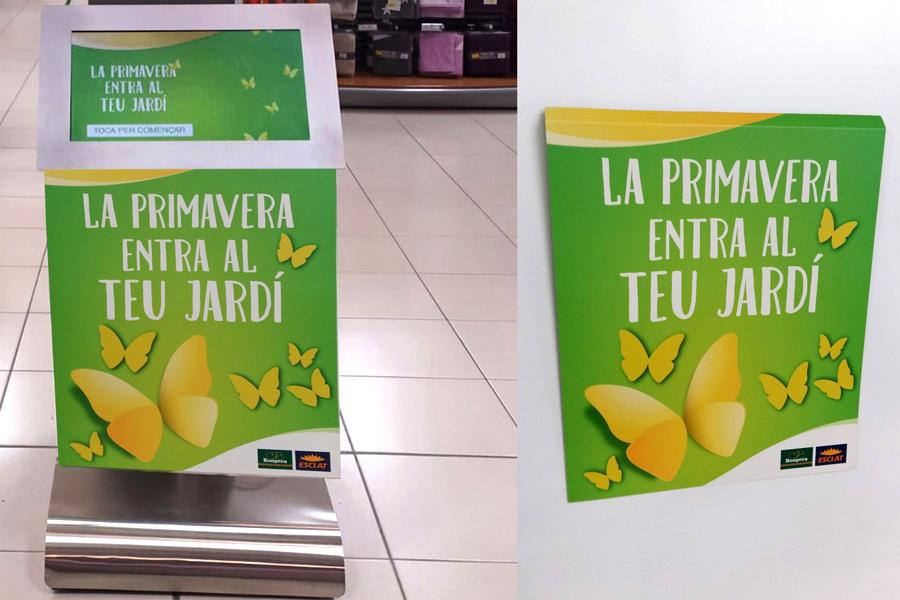 Cartelería Atril Faristol Gran Consumo