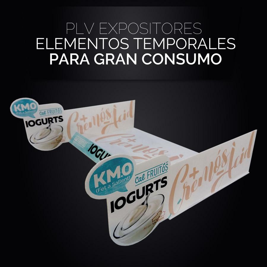 PLV Expositores Elementos temporales para Gran Consumo