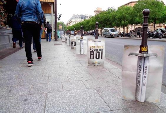 Publicidad exterior Cartón impreso Marketing