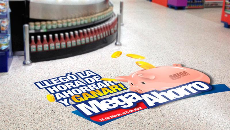 Adhesivos para suelo Retail Branding