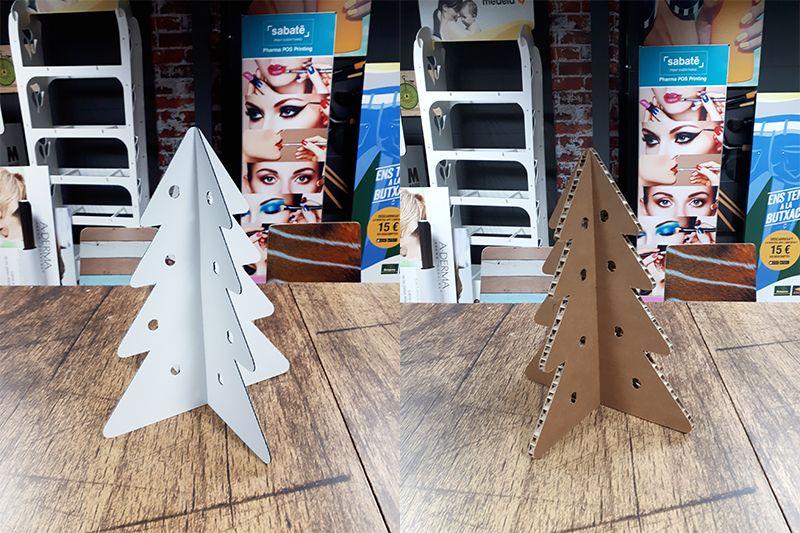 Árboles de navidad impresos PLV Cubos de cartón