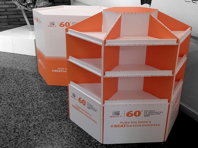 Impresión digital ecológica Displays impresos