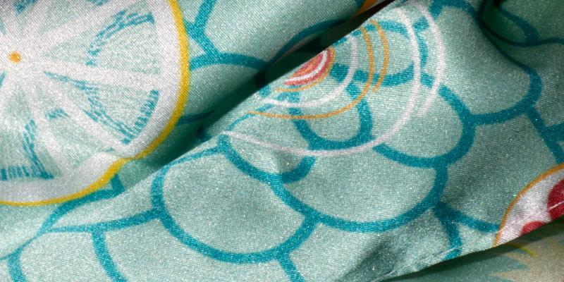 Seda Visual merchandising Textil impreso