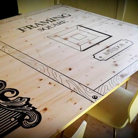 Impresión sobre madera Interiorismo