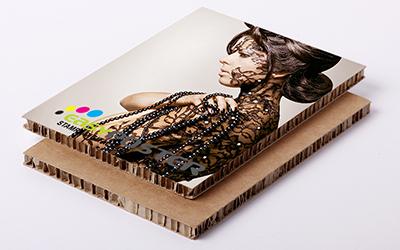 Impresión soportes rígidos Cartón nido de abeja impreso