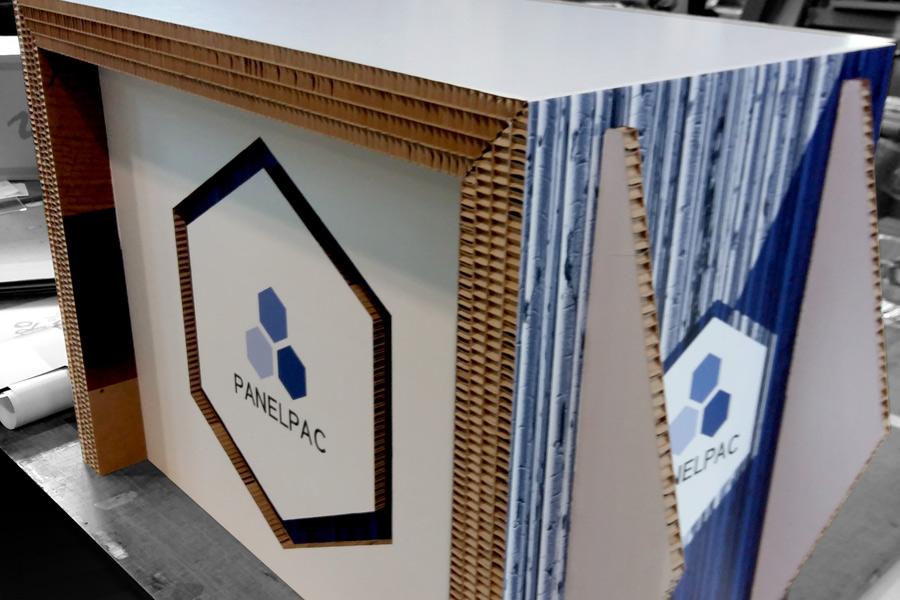 Vinilos para suelo gran formato Cartón nido abeja impreso