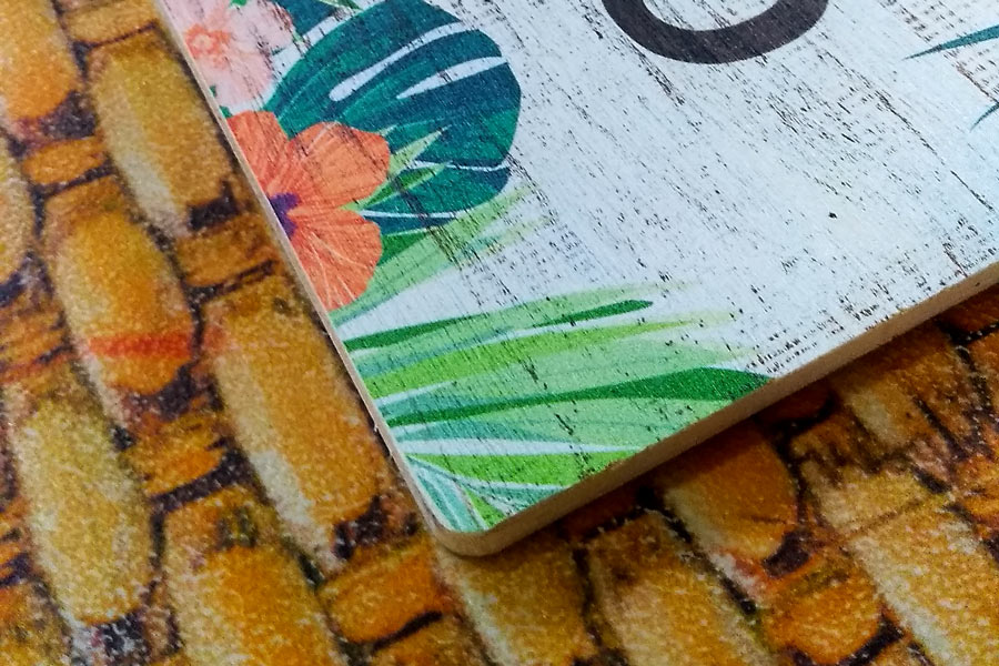Cartelería Impresión digital madera