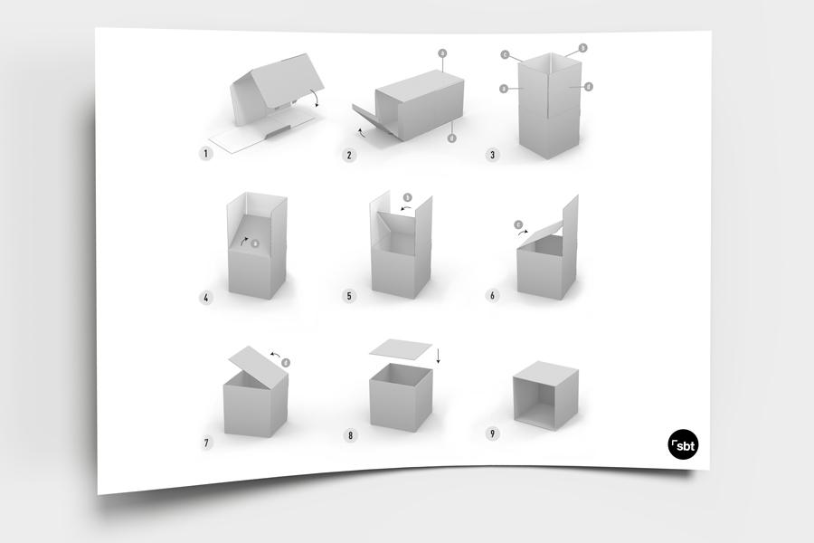 Cubos impresos para comunicación