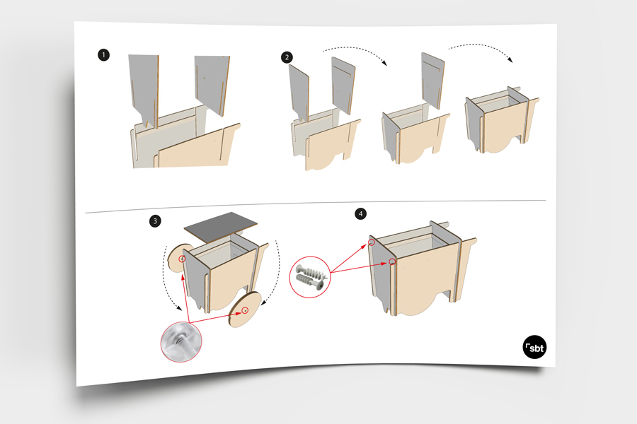 Mobiliario efímero impreso