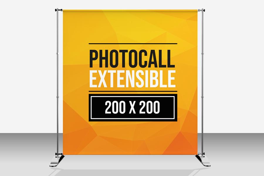 Photocall extensible Display Impresión digital ecológica