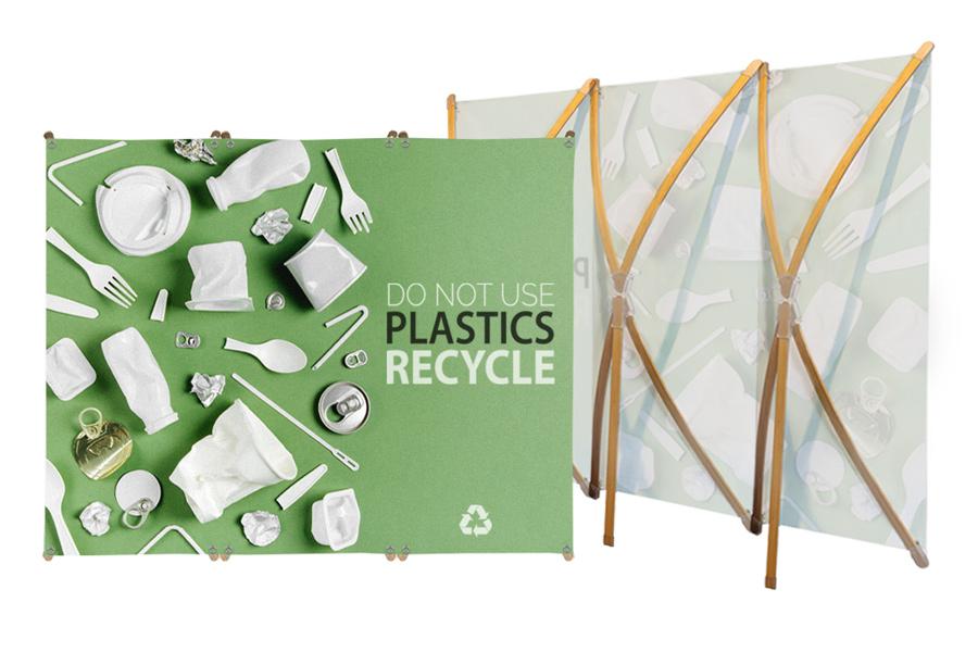 Photocall impreso ecológico bambú
