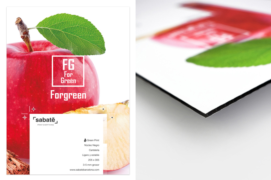 Polipropileno alveolar impreso Forex impreso ecológico