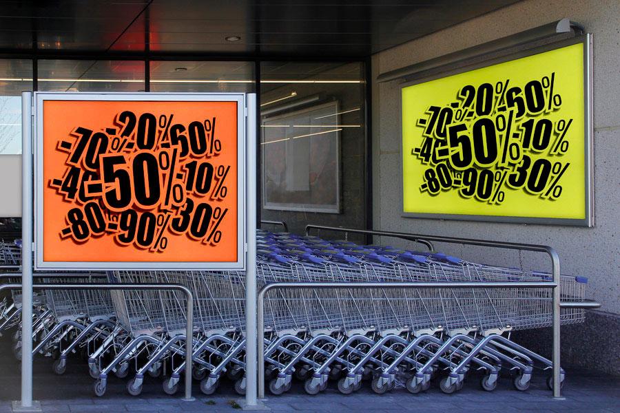 Publicidad lugar venta Textil fluor