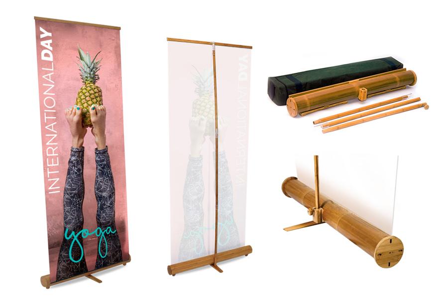 Roll up ecológico bambú impreso