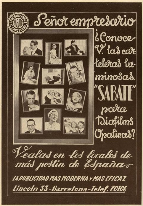 Reproducciones Sabaté Cartelería cinematográfica