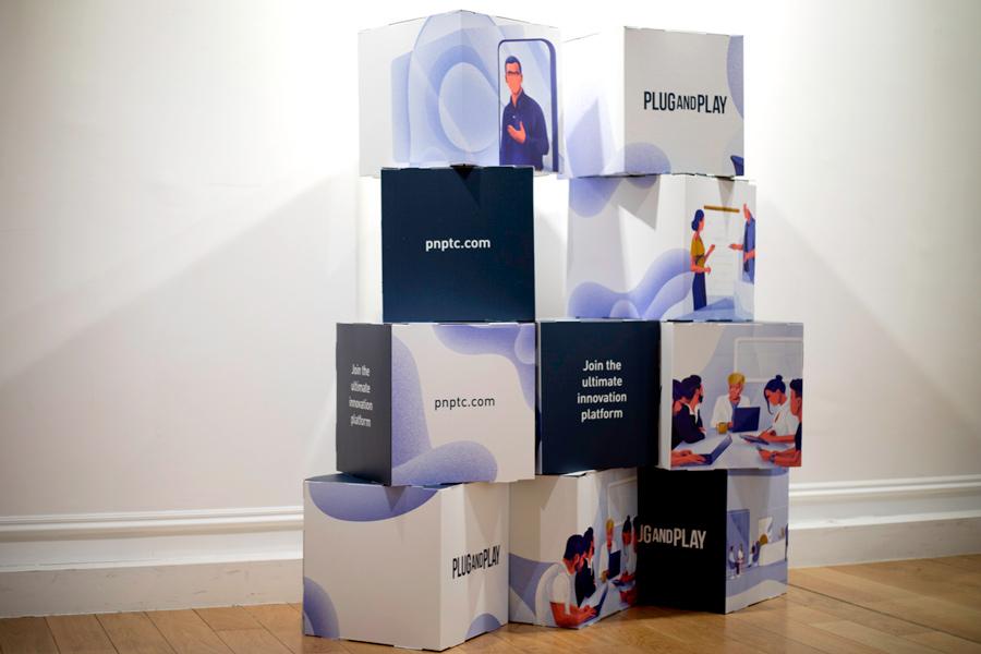 Cubos para comunicación visual Cartón impreso
